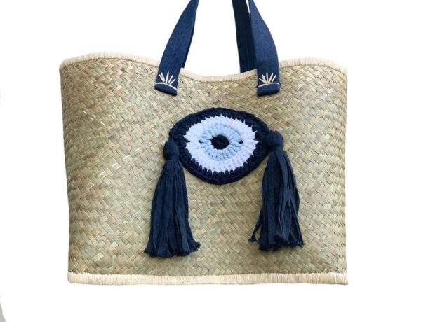 Tote Bag with Crochet Eye