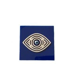 Square Desk Ornament with Eye Decoration