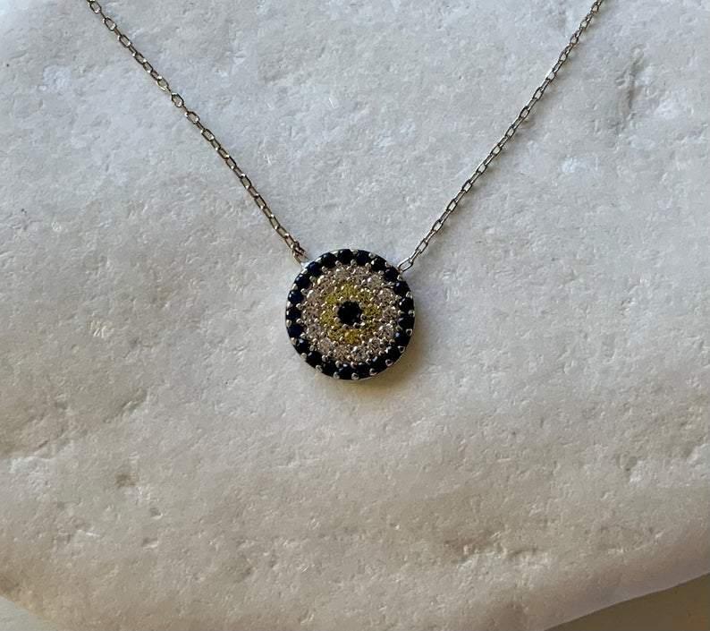 medium evil eye necklace