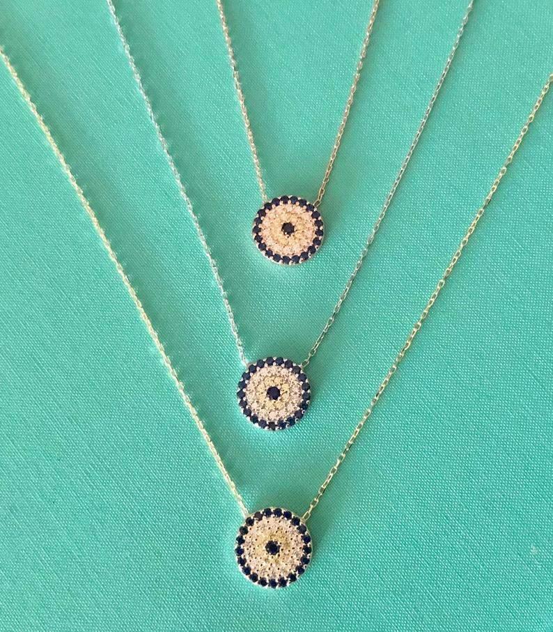 Medium Evil Eye Pendant Necklace