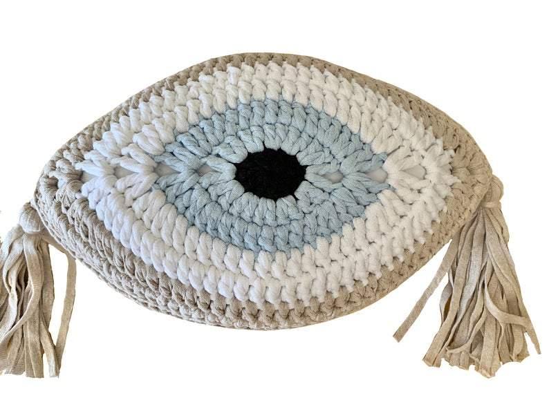 Greek Evil Eye Pillow