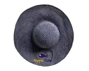 Black Raffia Sun Hat Medium Brim
