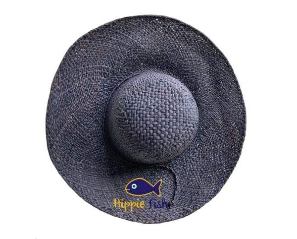 Black Raffia Sun Hat Medium Brim