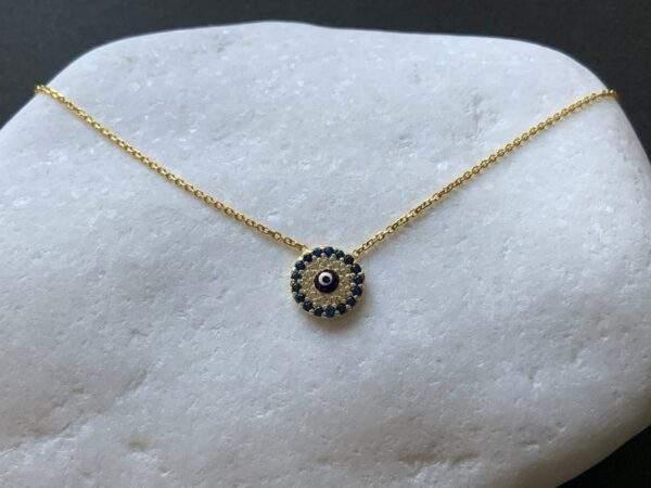 Small Ceramic Eye Necklace