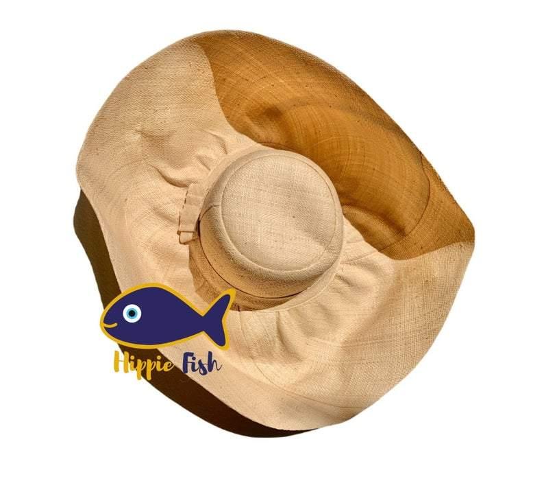Beige Sun Hat With Large Brim
