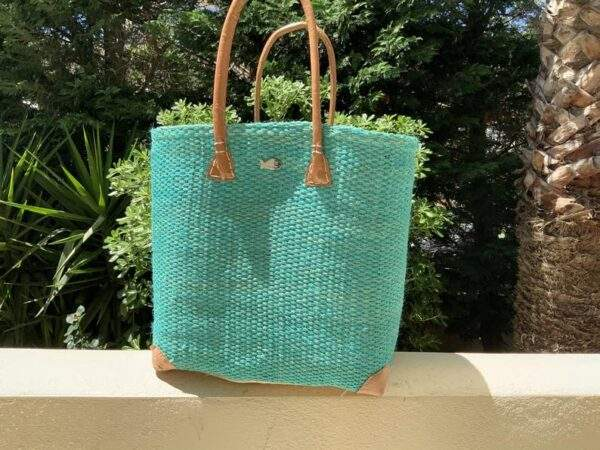Straw Beach Tote with Long Handles