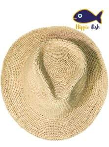 Crochet Straw Trilby Hat